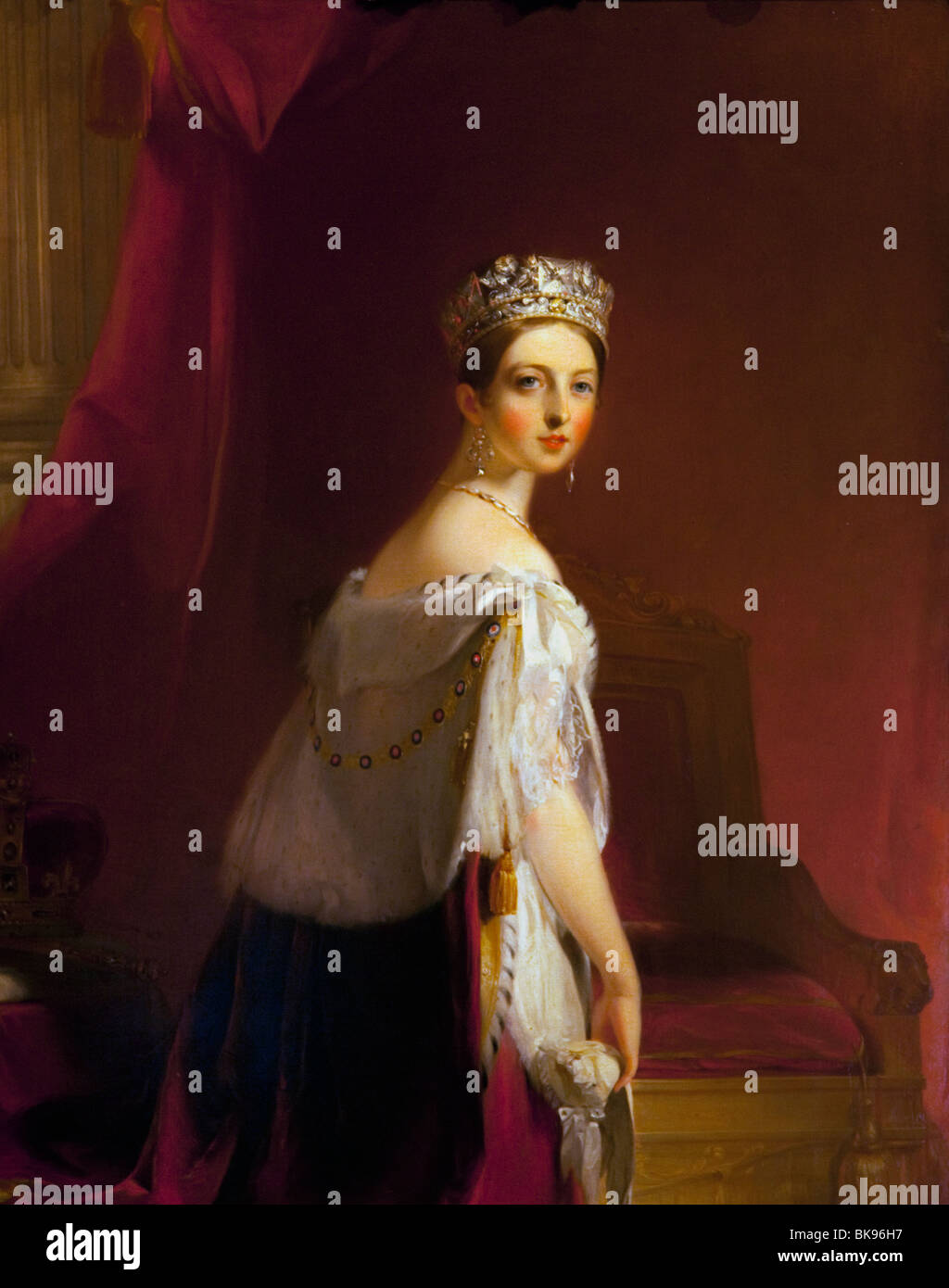 Queen Victoria by Thomas Sully, 1838, Wallace Collection, London, United Kingdom - Stock Image