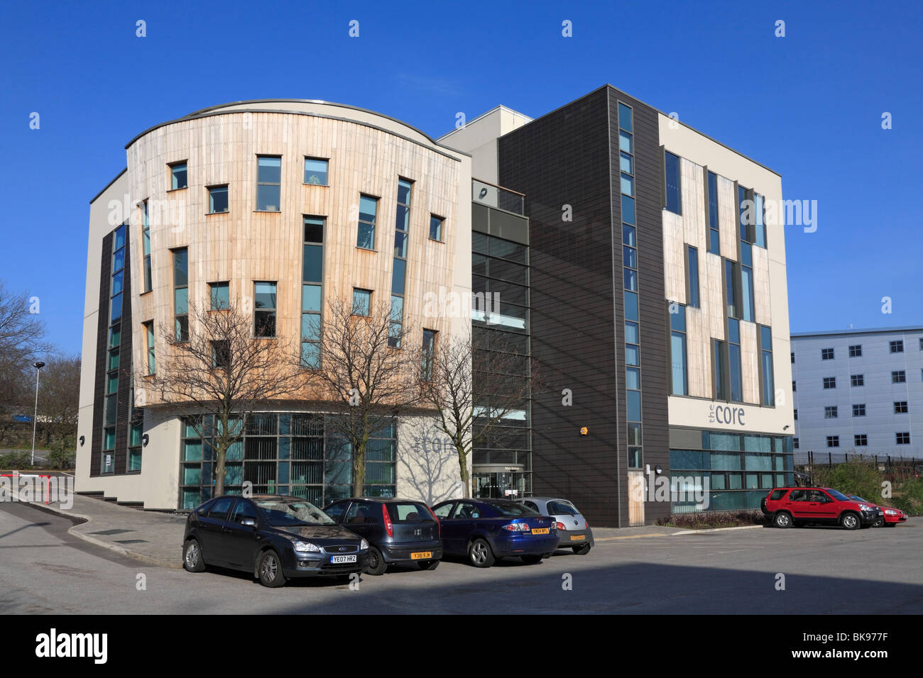 The Core the new high profile award winning headquarters of Voluntary Action Barnsley, VAB, Barnsley, South Yorkshire, - Stock Image