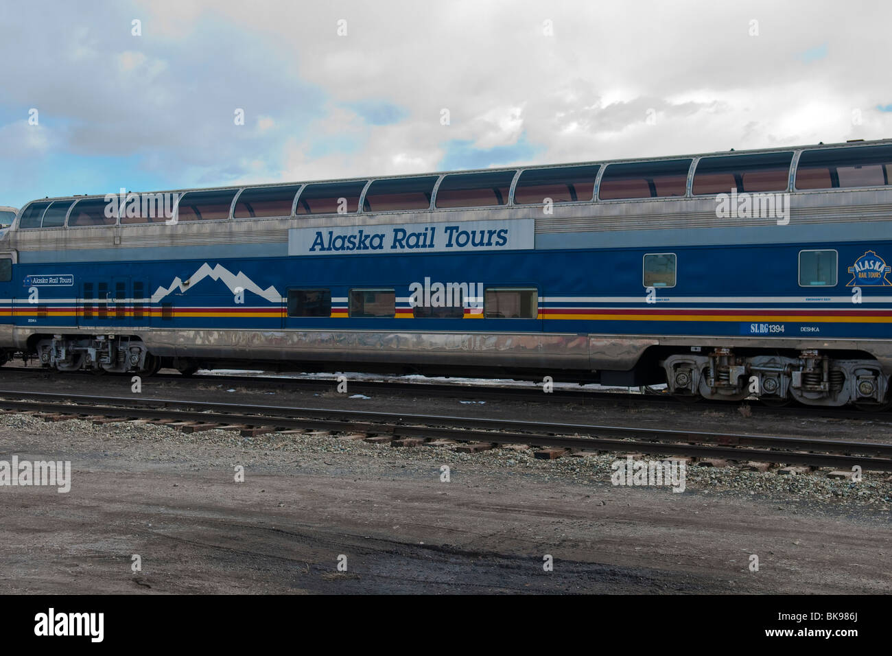 Alaska Rail Tours Scenic railroad passenger car - Stock Image