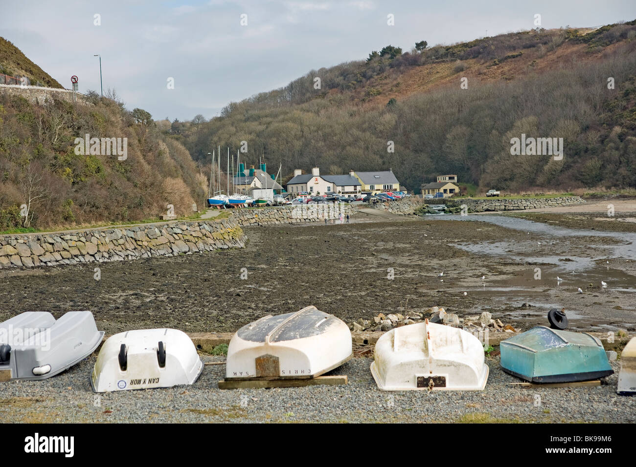 Solva estuary in pembrokeshire west wales - Stock Image