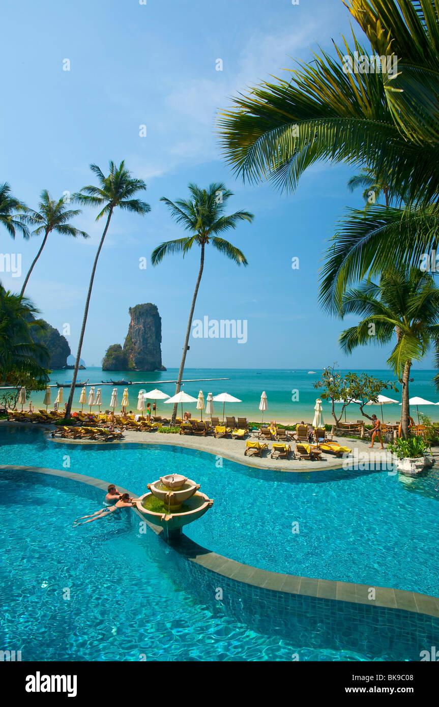 Hotel pool of the Centara Resort, Krabi, Thailand, Asia - Stock Image