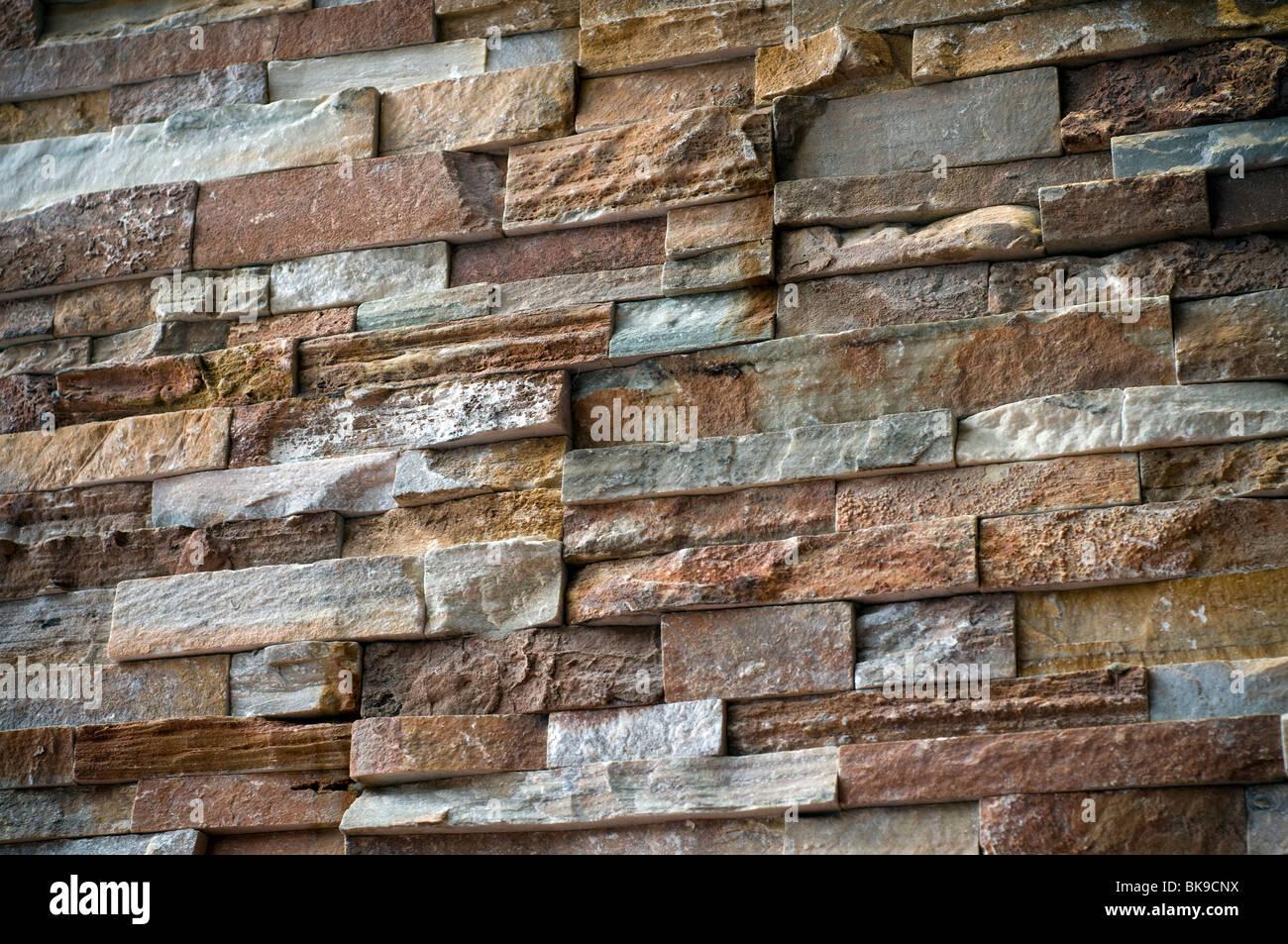 Interior Dry Stone Wall,3D Cladding,Devon Stone   Stock Image