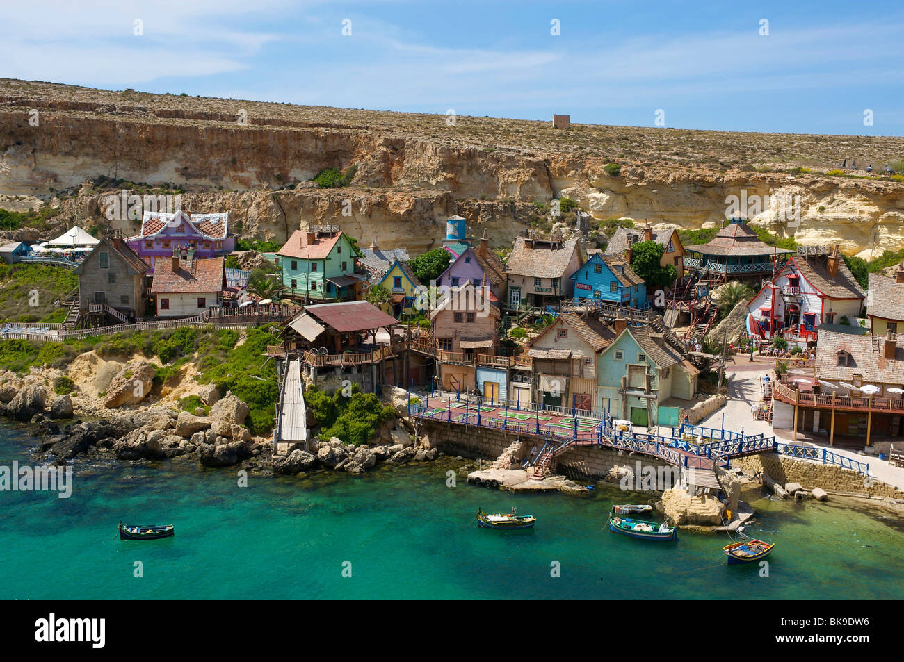 Popeye village in Malta, Europe - Stock Image