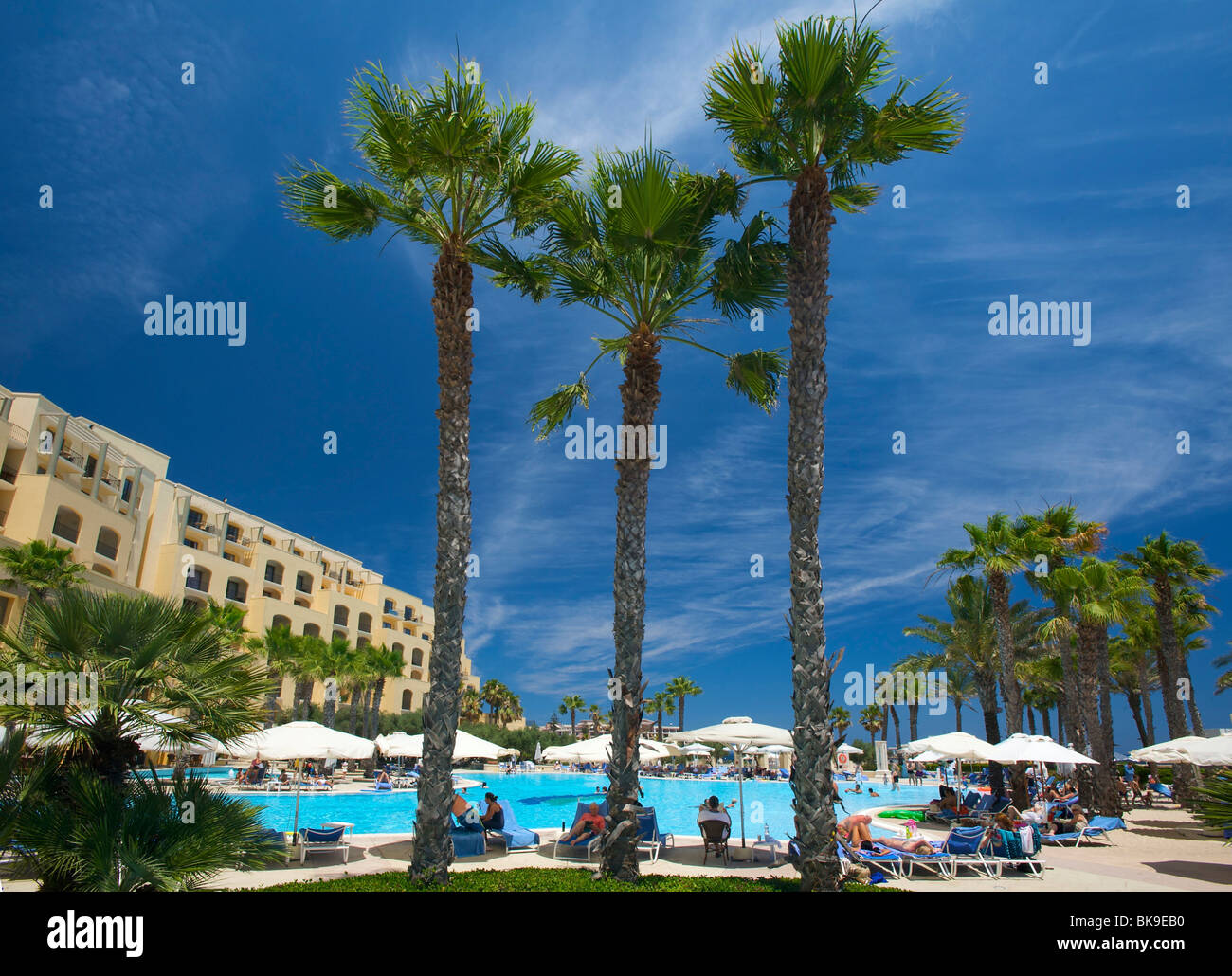 Hilton Hotel in St. Julians, Malta, Europe Stock Photo