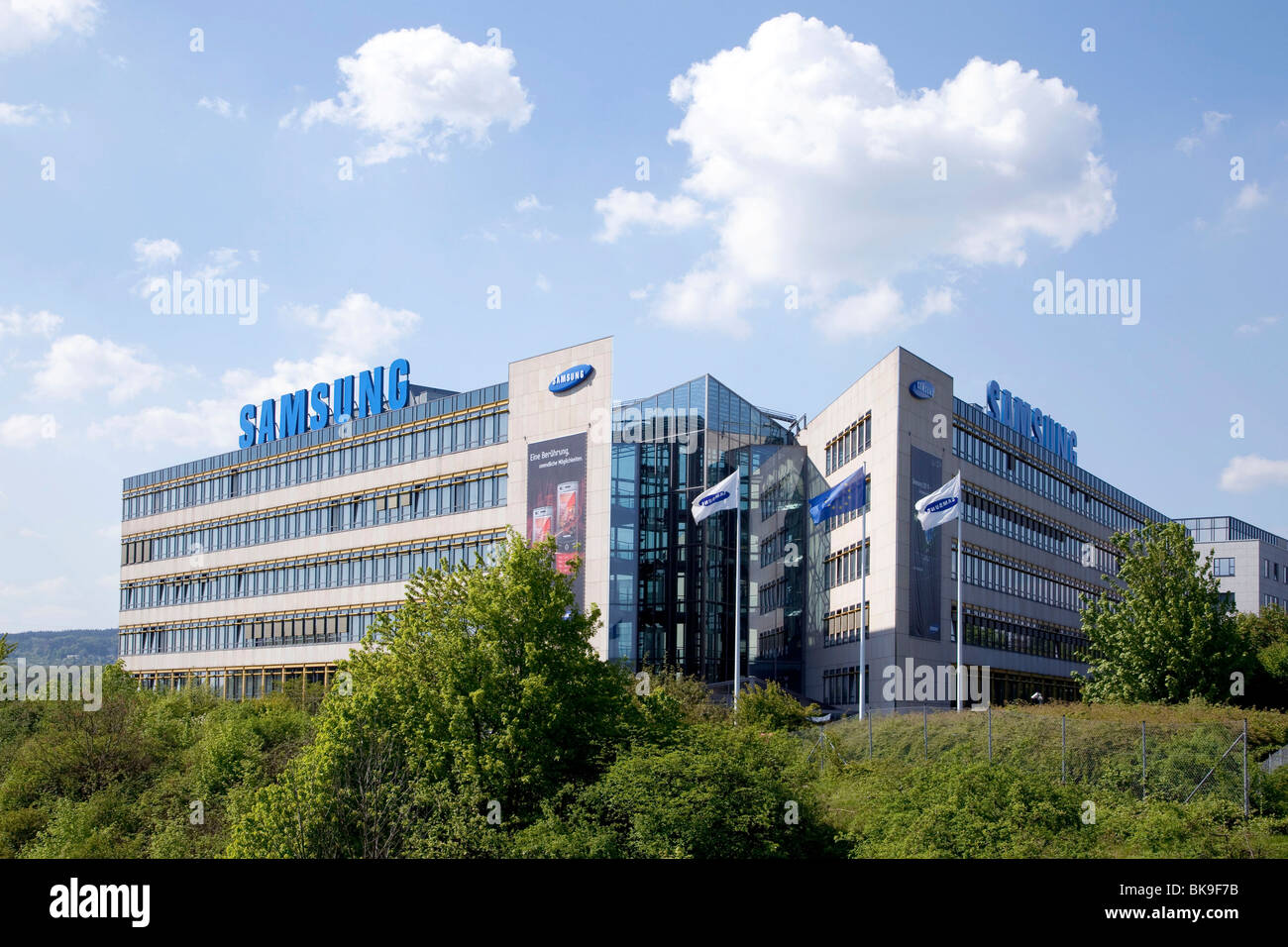 Samsung Electronics GmbH company headquarters in Germany Schwalbach, Hesse, Germany, Europe - Stock Image