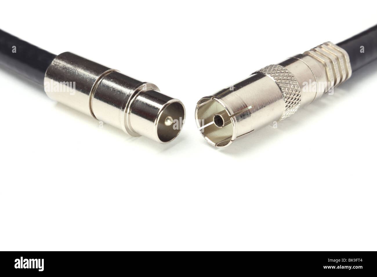 Professional cable tv connectors - Stock Image