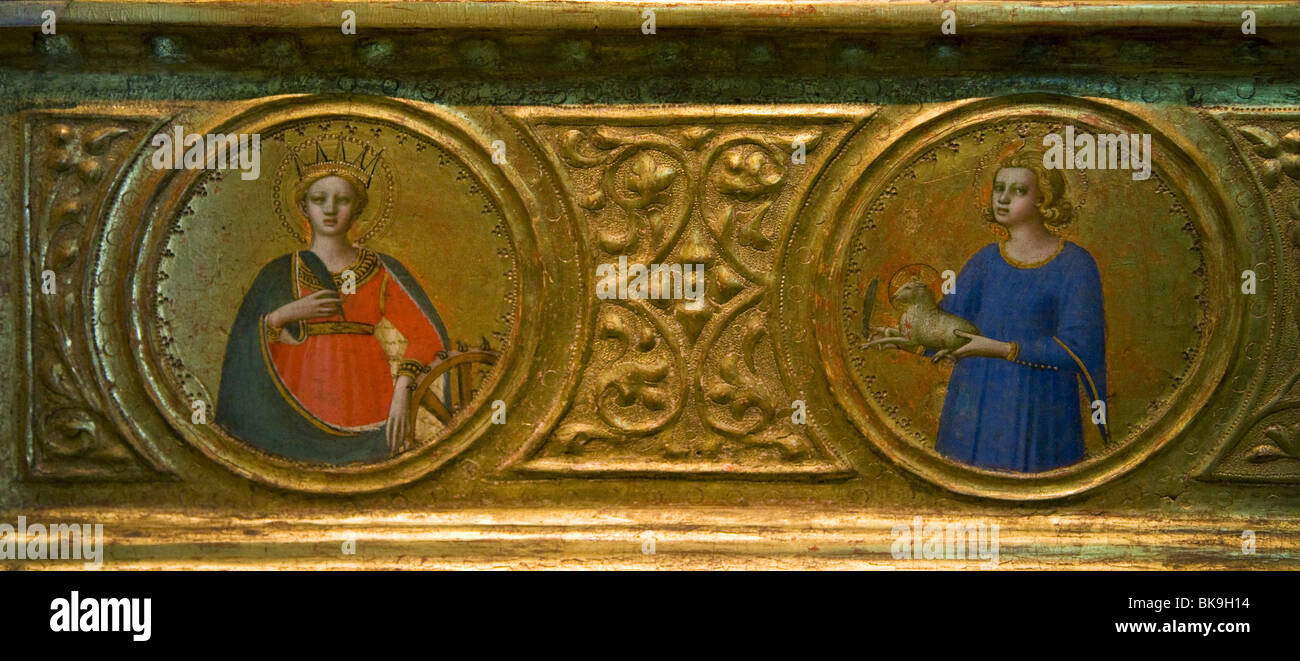 Man of Sorrows with Saints,  by Fra Angelico,  1422,  England,  London,  Courtauld Institute and Galleries,  1400 Stock Photo