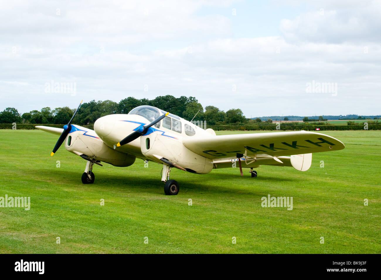 Miles Gemini light twin-engined British aircraft dating from the immediate post-war period - Stock Image