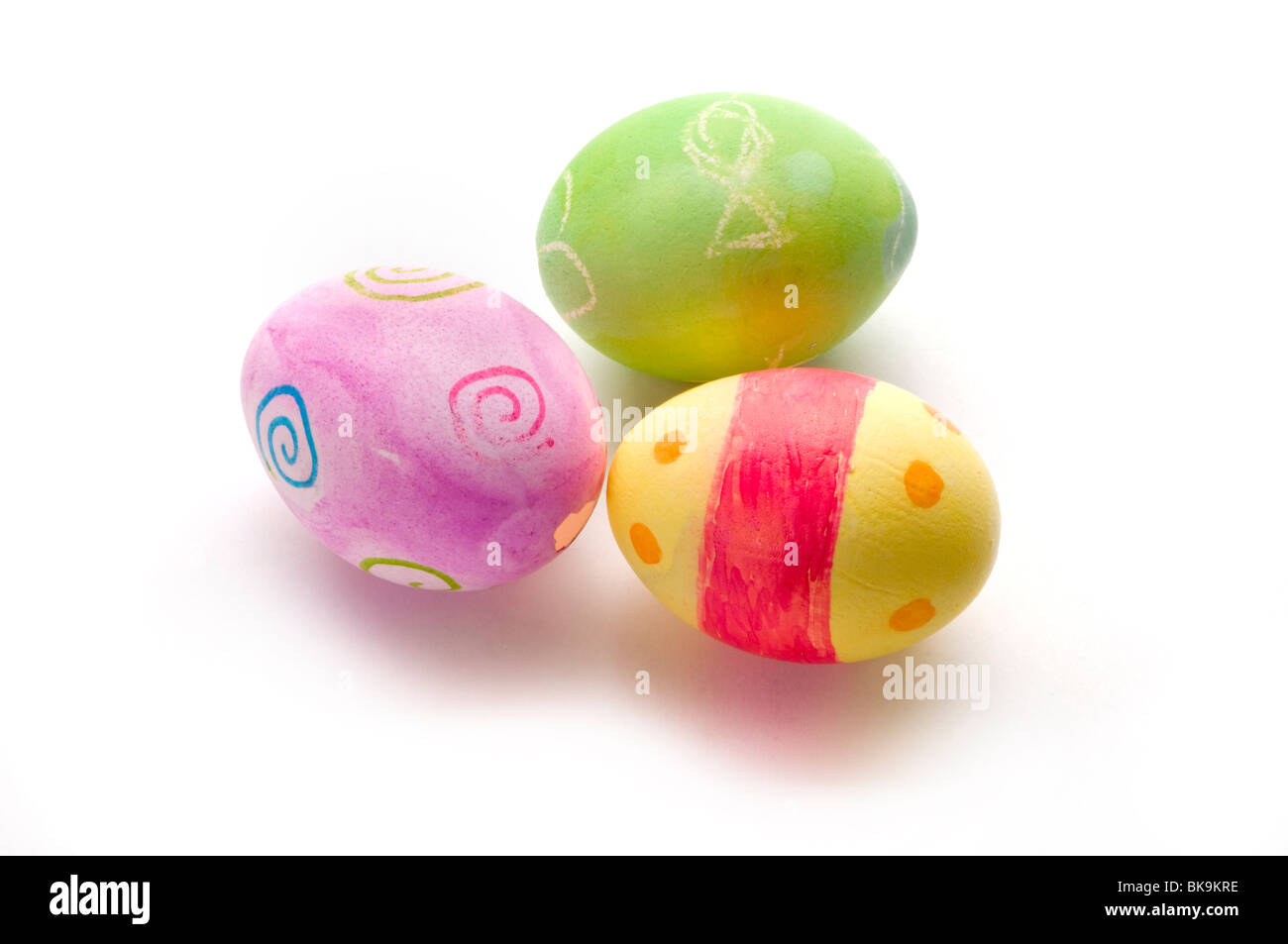 easter eggs colored eggs - Stock Image