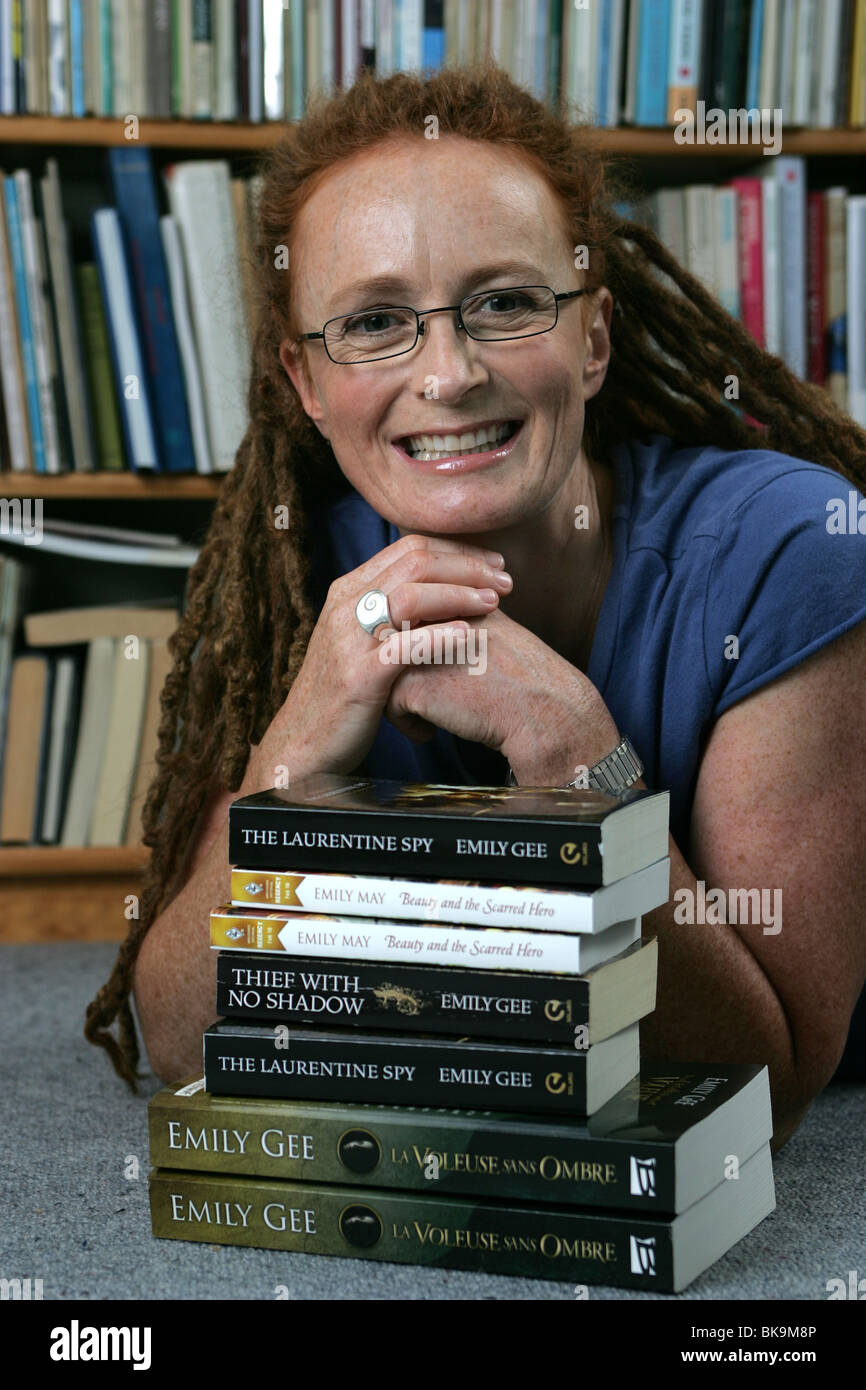 Author Emily Gee in Nelson. She is the daughter of New Zealand's most famous fiction writer Maurice. - Stock Image