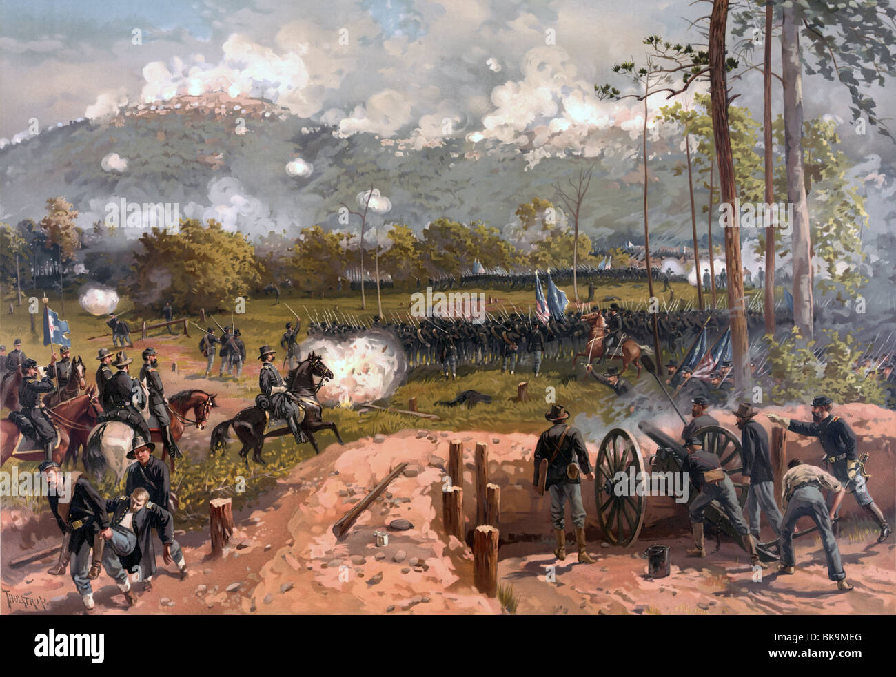 Battle of Kennesaw Mountain fought on June 27, 1864, during the Atlanta Campaign of the American Civil War - Stock Image