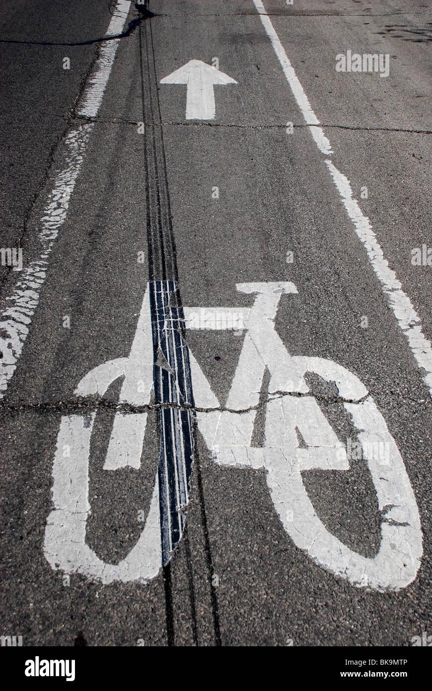 Bicycle path - Stock Image