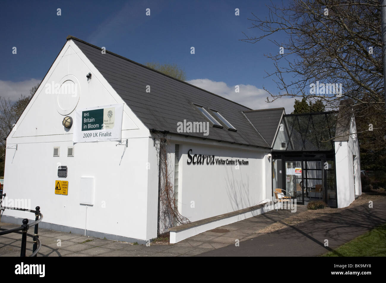 scarva visitor centre and tea rooms in village county down northern ireland uk - Stock Image