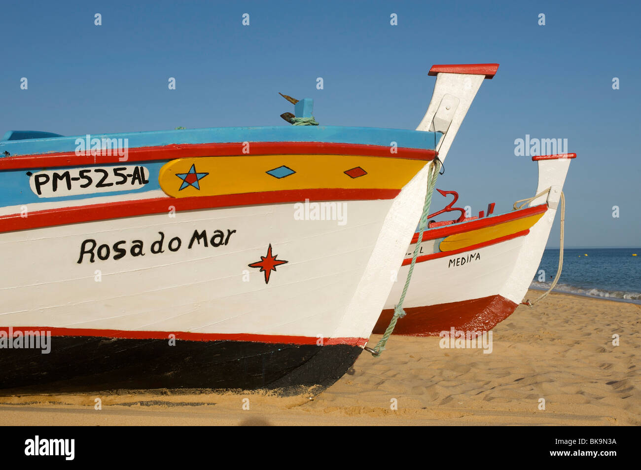 Fishing boats in Armacao de Pera, Algarve, Portugal, Europe - Stock Image
