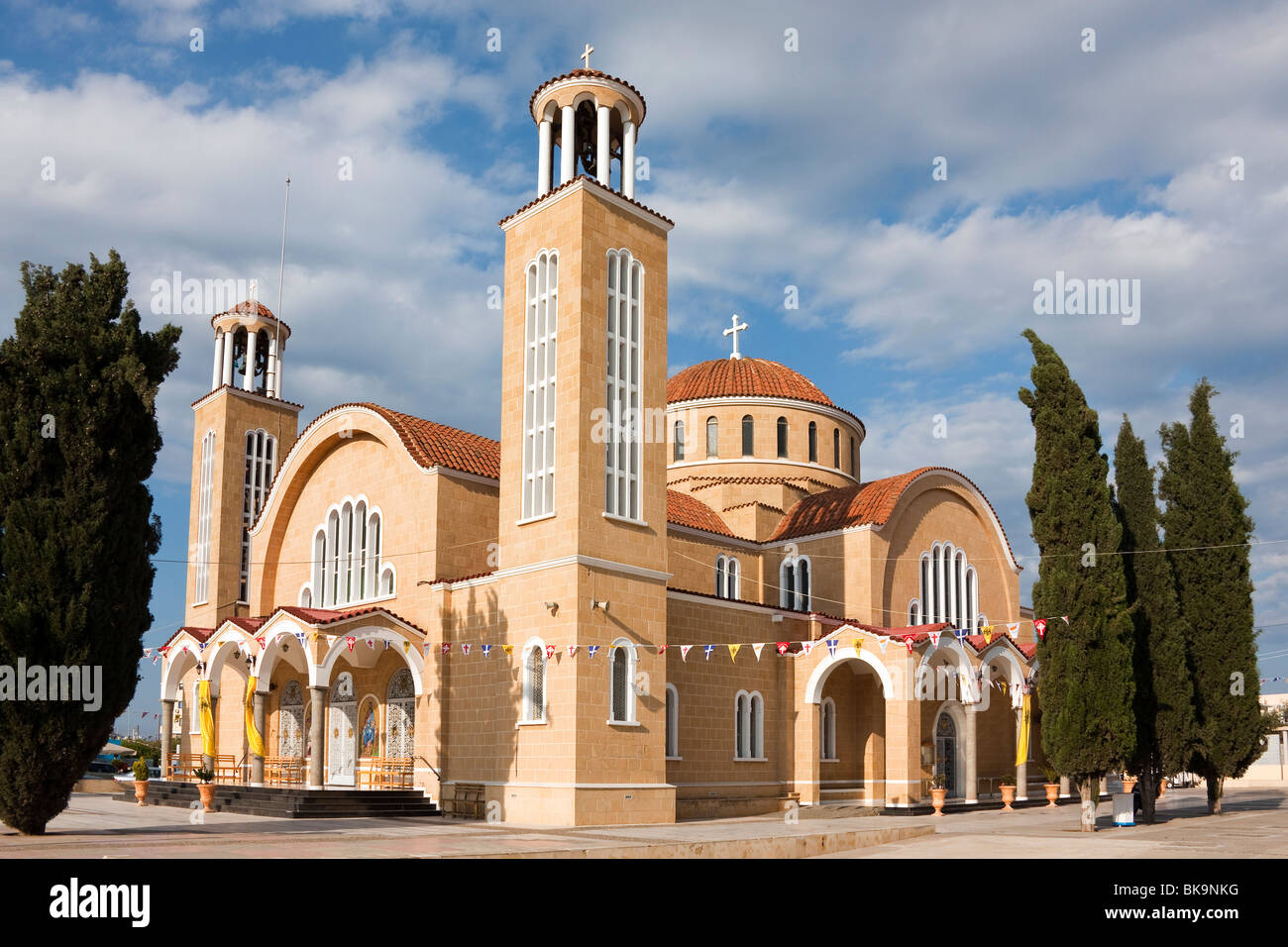 New Church of St. George, Agios Georgios, Paralimni, Cyprus, South Cyprus, Greek, Europe - Stock Image