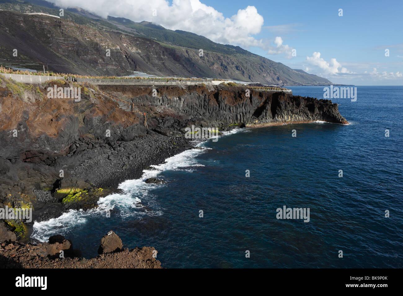 Playa las Monjas near Puerto Naos, La Palma, Canary Islands, Spain - Stock Image