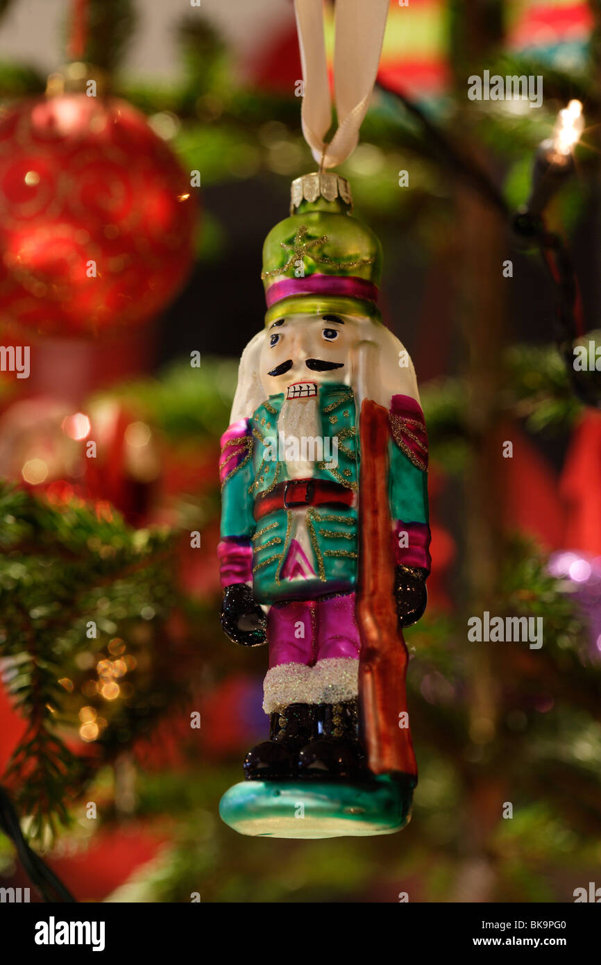 nutcracker ballet toy soldier christmas tree decoration stock image
