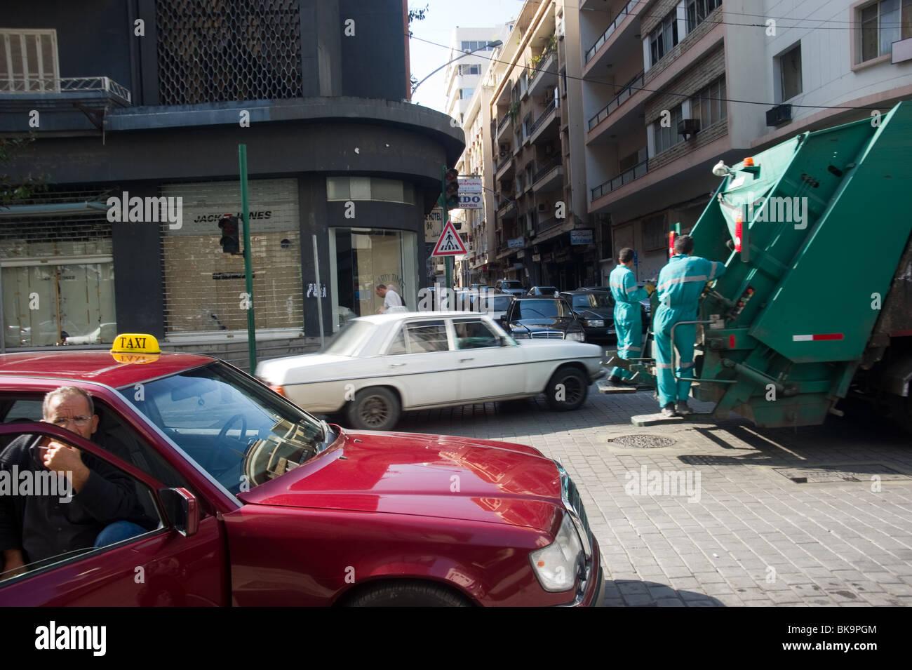 morning day at Hamra street Lebanon - Stock Image