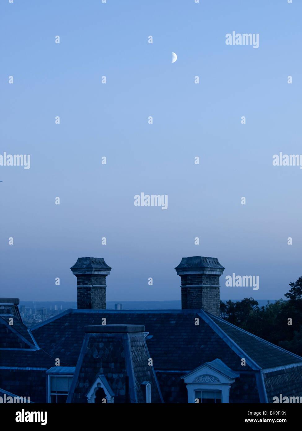 Moon over Highgate - Stock Image