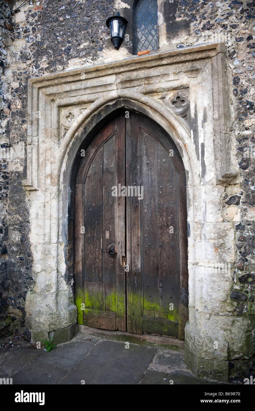 St. Alphege Parish Church Door, Canterbury, Kent, UK - Stock Image
