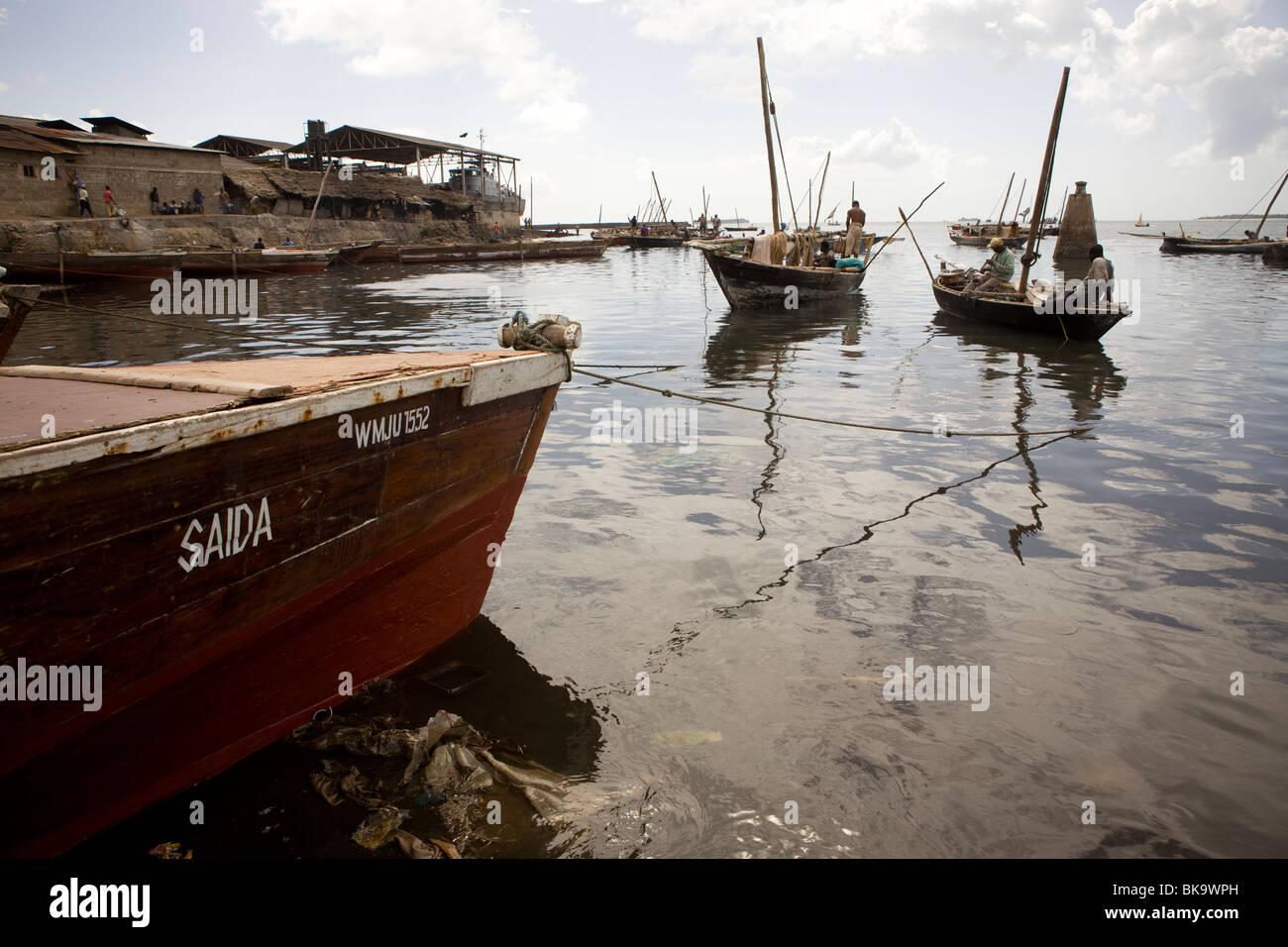 Harbor - Stonetown, Zanzibar, Tanzania. - Stock Image