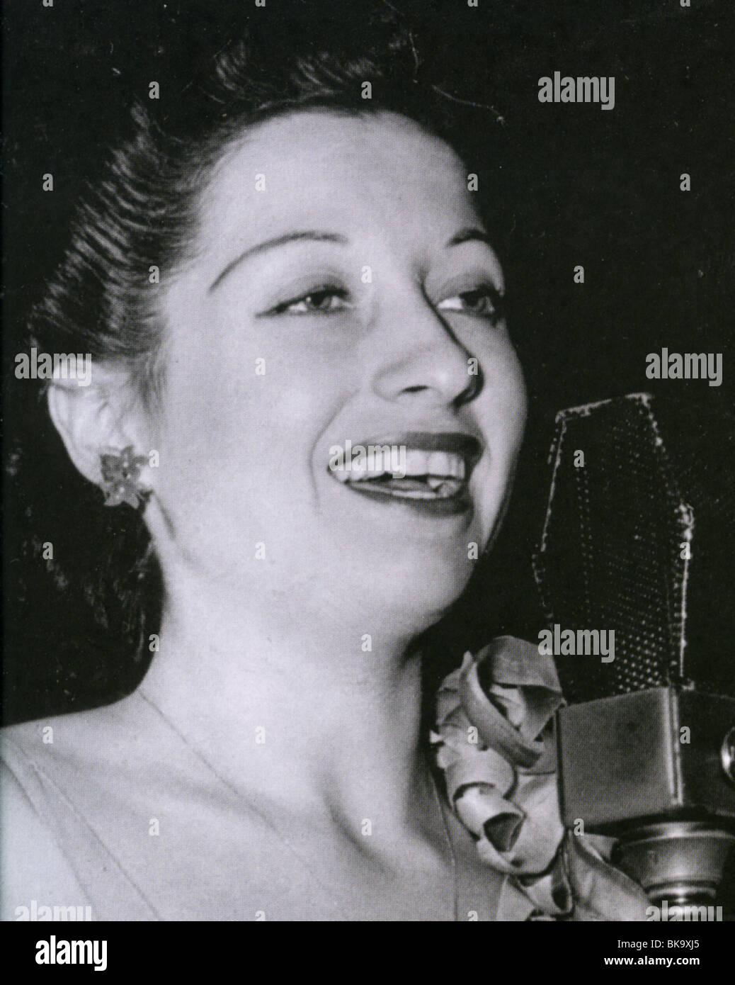 HELEN FORREST  - US jazz singer (1917-1999) - Stock Image