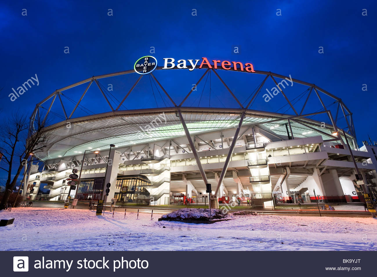 BayArena football stadium, Leverkusen, Germany - Stock Image