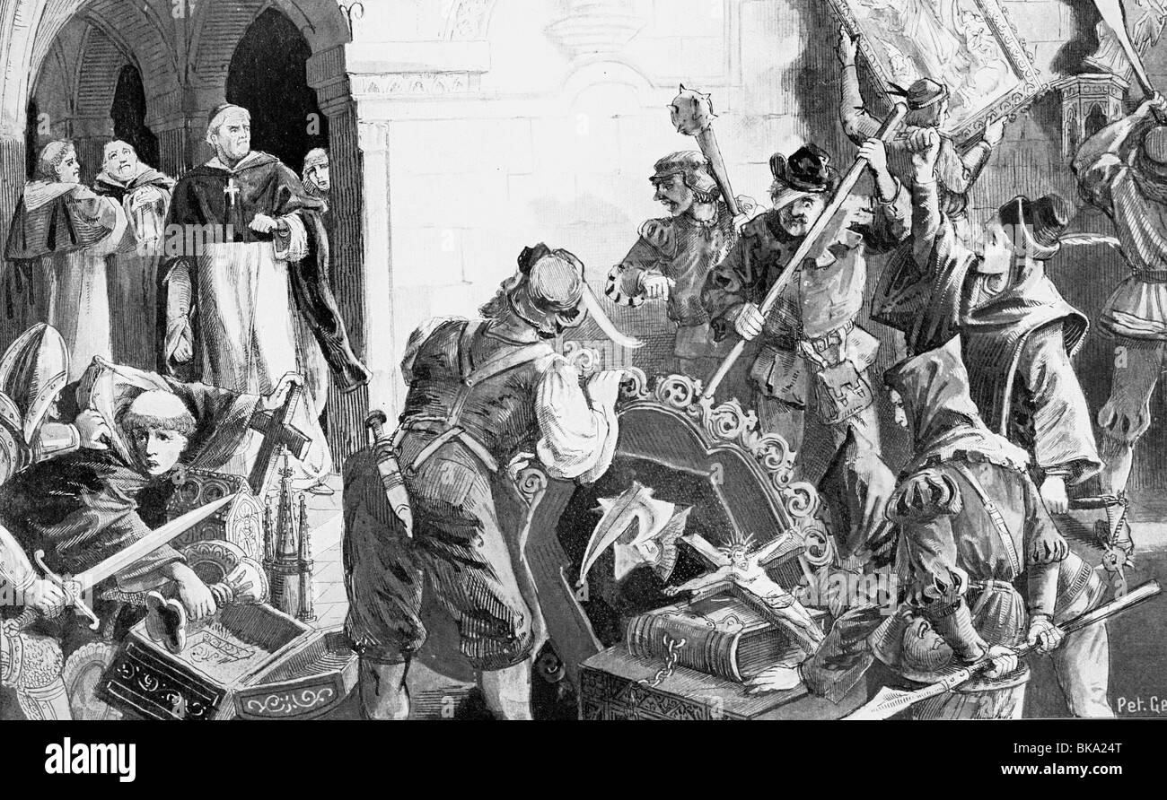 events, Protestant Reformation, 1517 - 1555, Additional-Rights-Clearances-NA - Stock Image