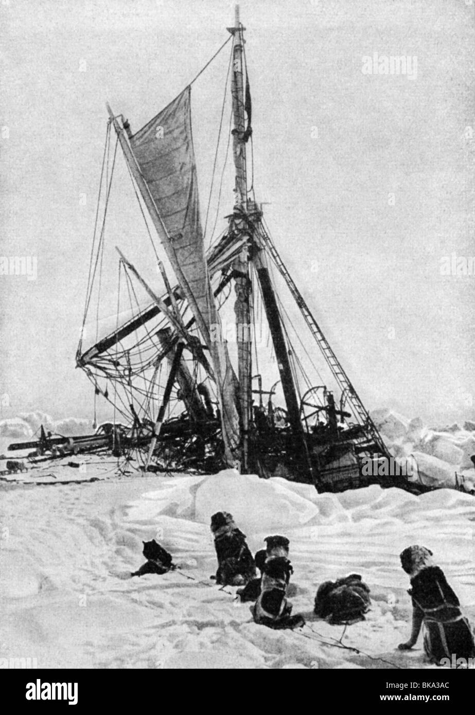 Shackleton, Ernest, 15.2.1874 - 5.1.1922, British polar explorer, expedition to the South Pole 1914 - 1917, the - Stock Image