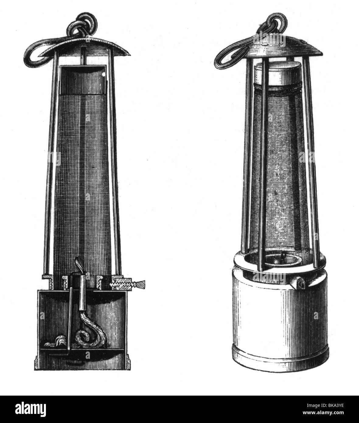 Mining, Equipment, Safety Lamp (Davy Lamp), Developed By Humphry Davy,