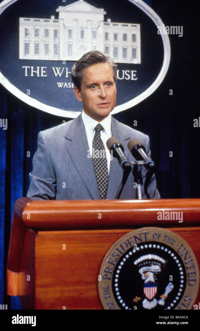 THE AMERICAN PRESIDENT (1995) MICHAEL DOUGLAS SPEECH, MICROPHONE AMPR 007 - Stock Image
