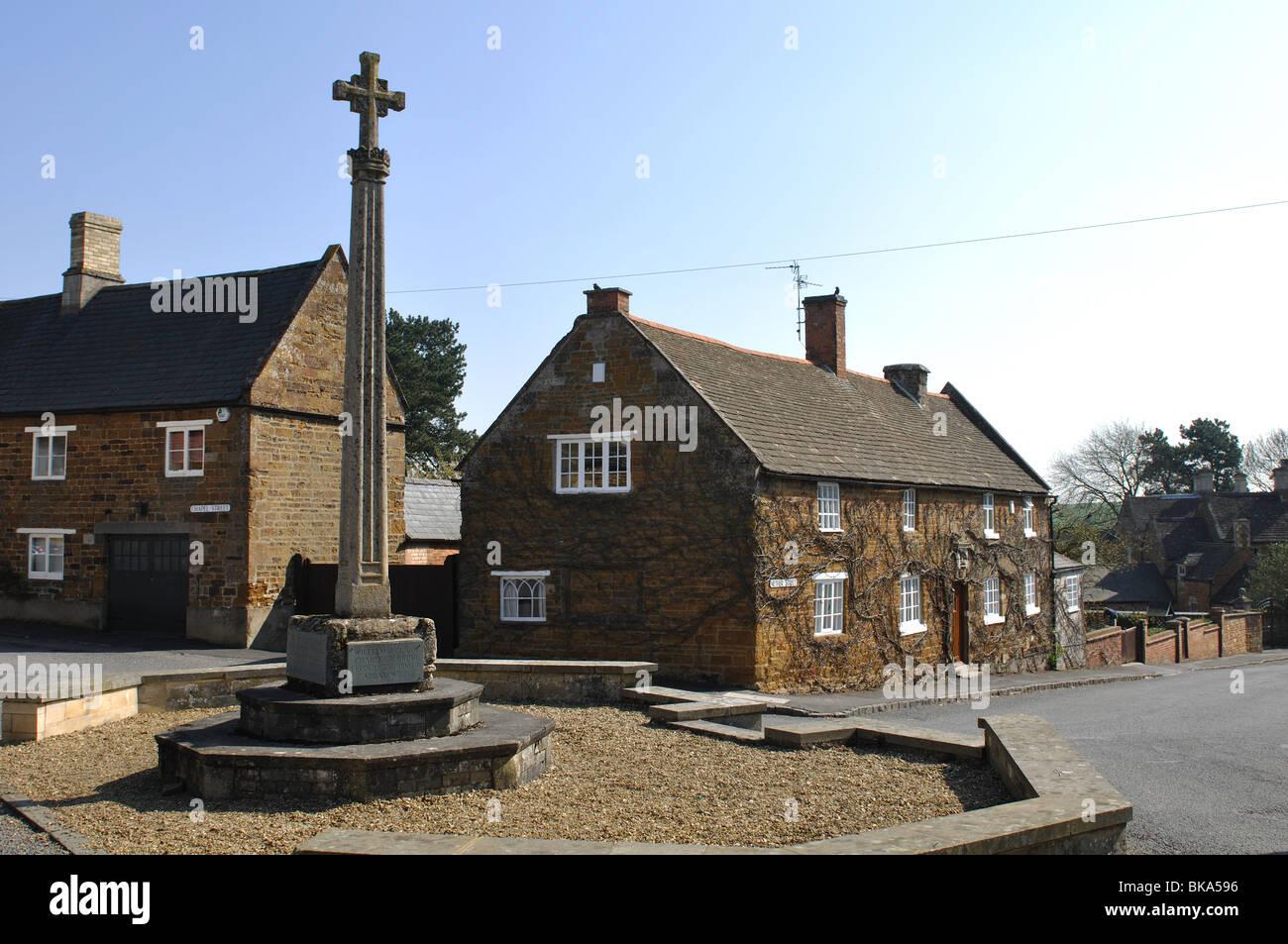Belton-in-Rutland village centre, Rutland, England, UK - Stock Image