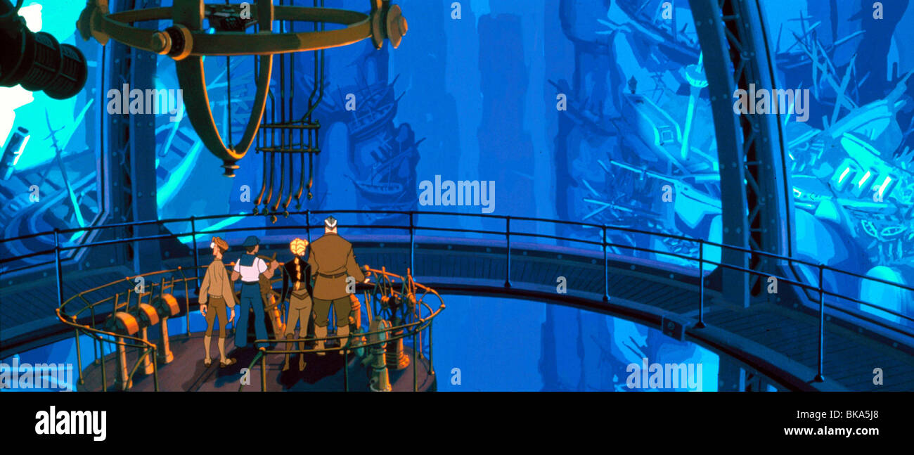 ATLANTIS : THE LOST EMPIRE (ANI - 2001) ANIMATED CREDIT DISNEY ATLE 014 - Stock Image