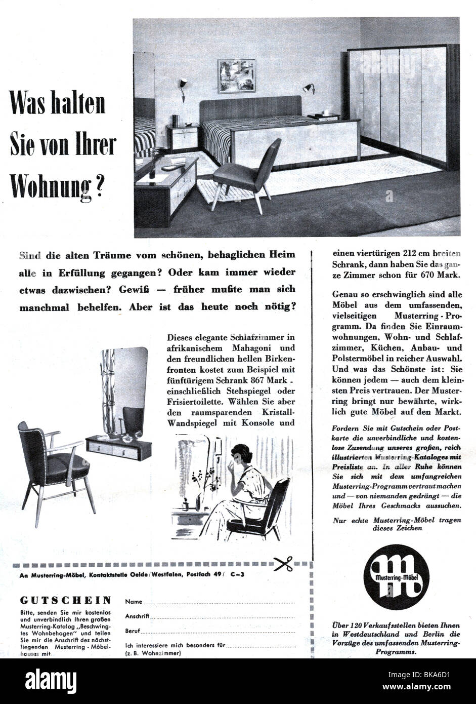 Attrayant Advertising, Furnishing, Musterring Furniture, Advertisement In U0027Revueu0027  Magazine, Number 44