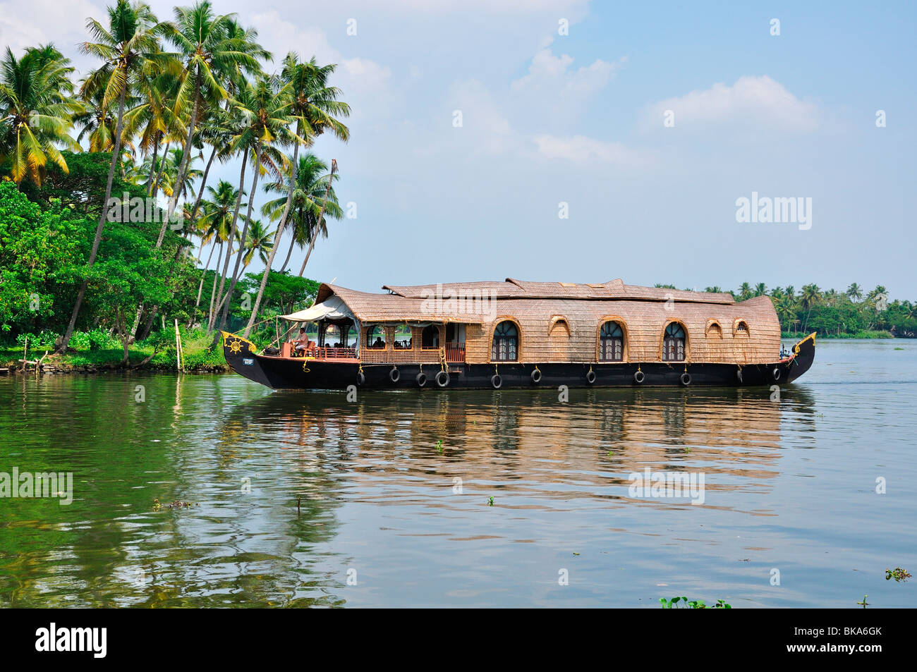 House boat of  Kerala - Stock Image