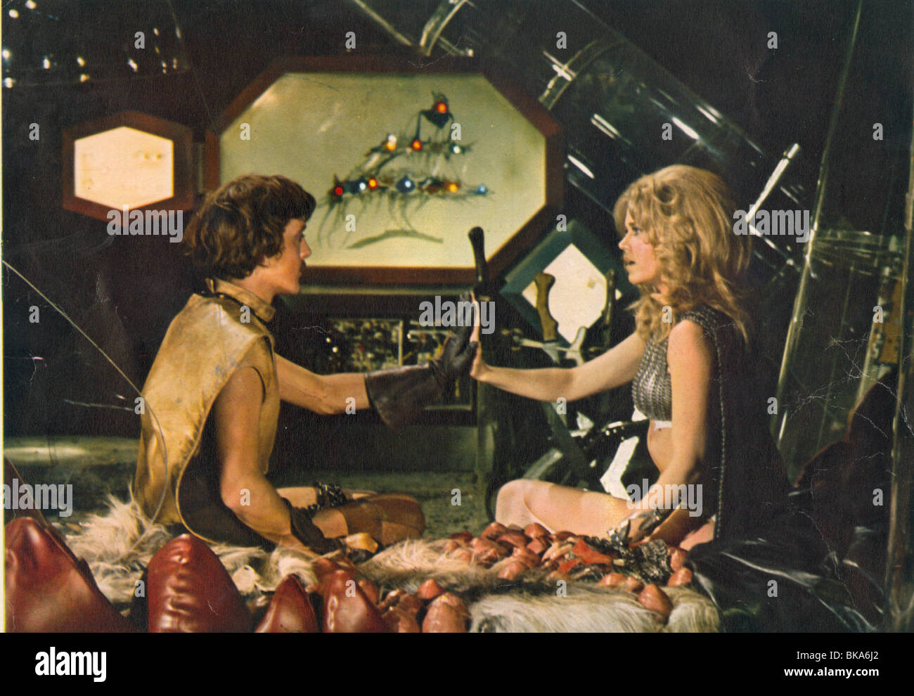 BARBARELLA (1967) DAVID HEMMINGS, DILDANO, JANE FONDA, BARBARELLA BRB 006FOH - Stock Image