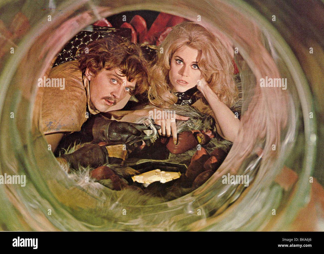 BARBARELLA (1967) DAVID HEMMINGS, DILDANO, JANE FONDA, BARBARELLA BRB 008FOH - Stock Image