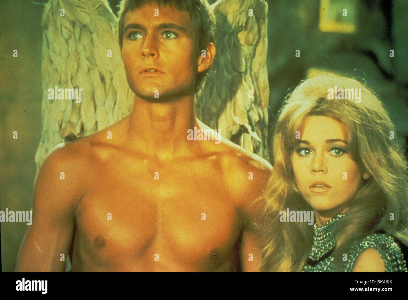 BARBARELLA (1967) JOHN PHILLIP LAW, PYGAR, JANE FONDA, BARBARELLA BRB 026 - Stock Image