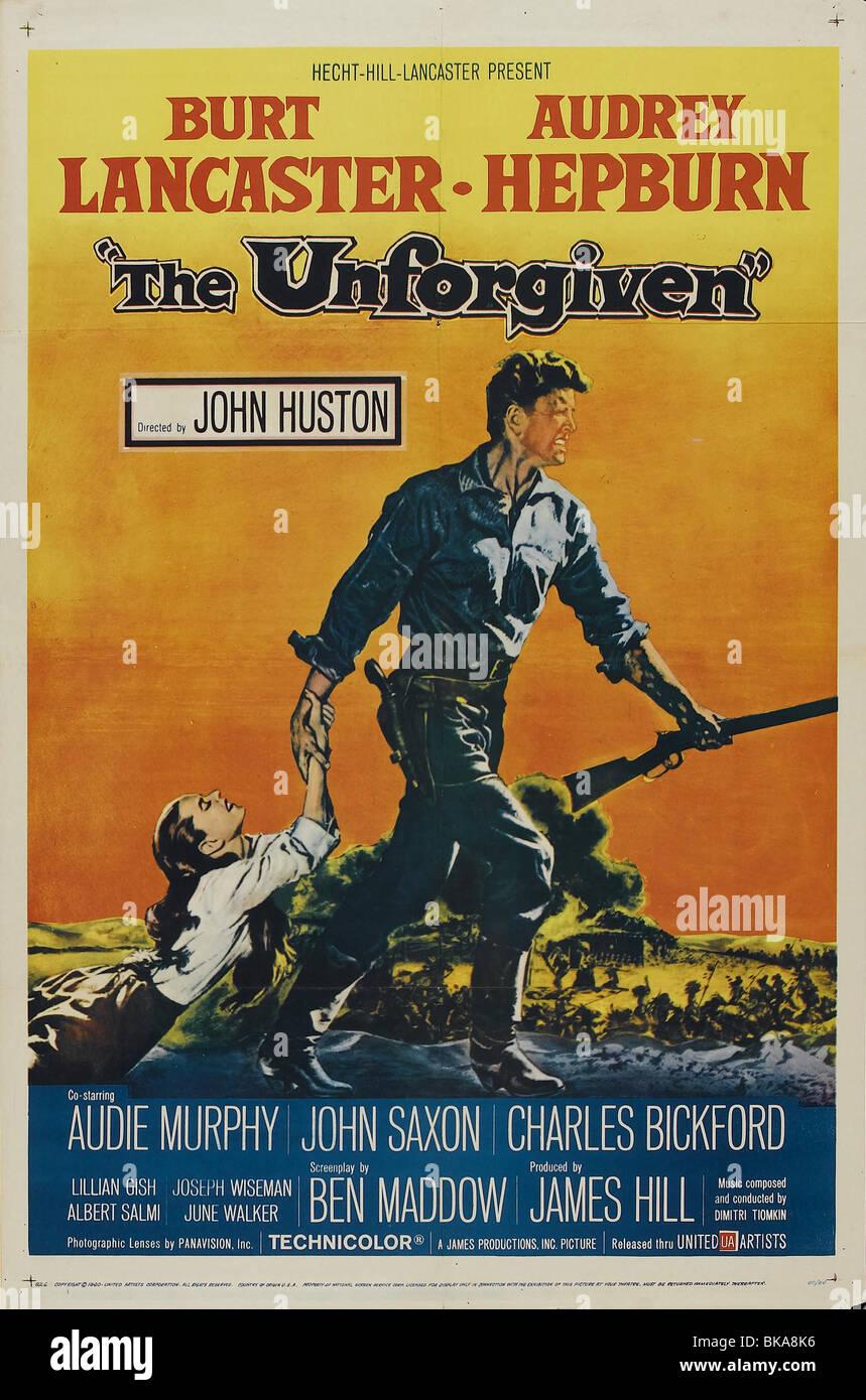 The Unforgiven Year : 1960 Director : John Huston Movie poster (USA) - Stock Image