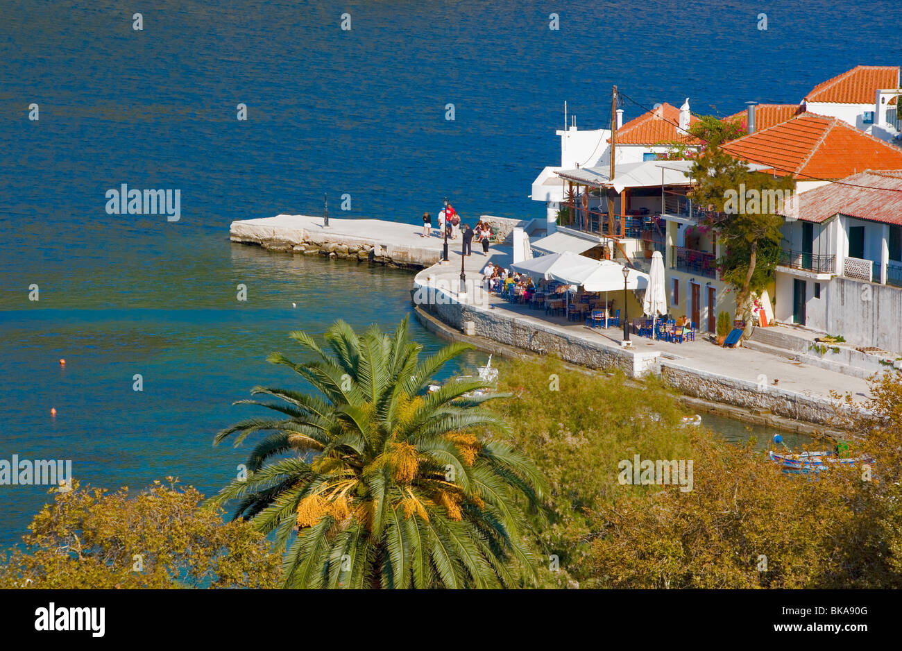 Assos, Kefalonia - one of the prettiest coastal viallages in Greece - Stock Image