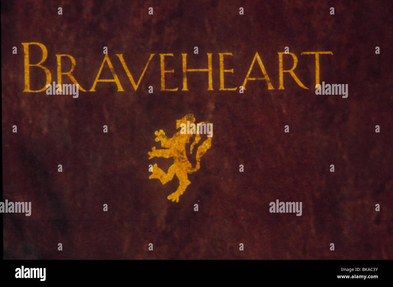 BRAVEHEART -1995 POSTER - Stock Image