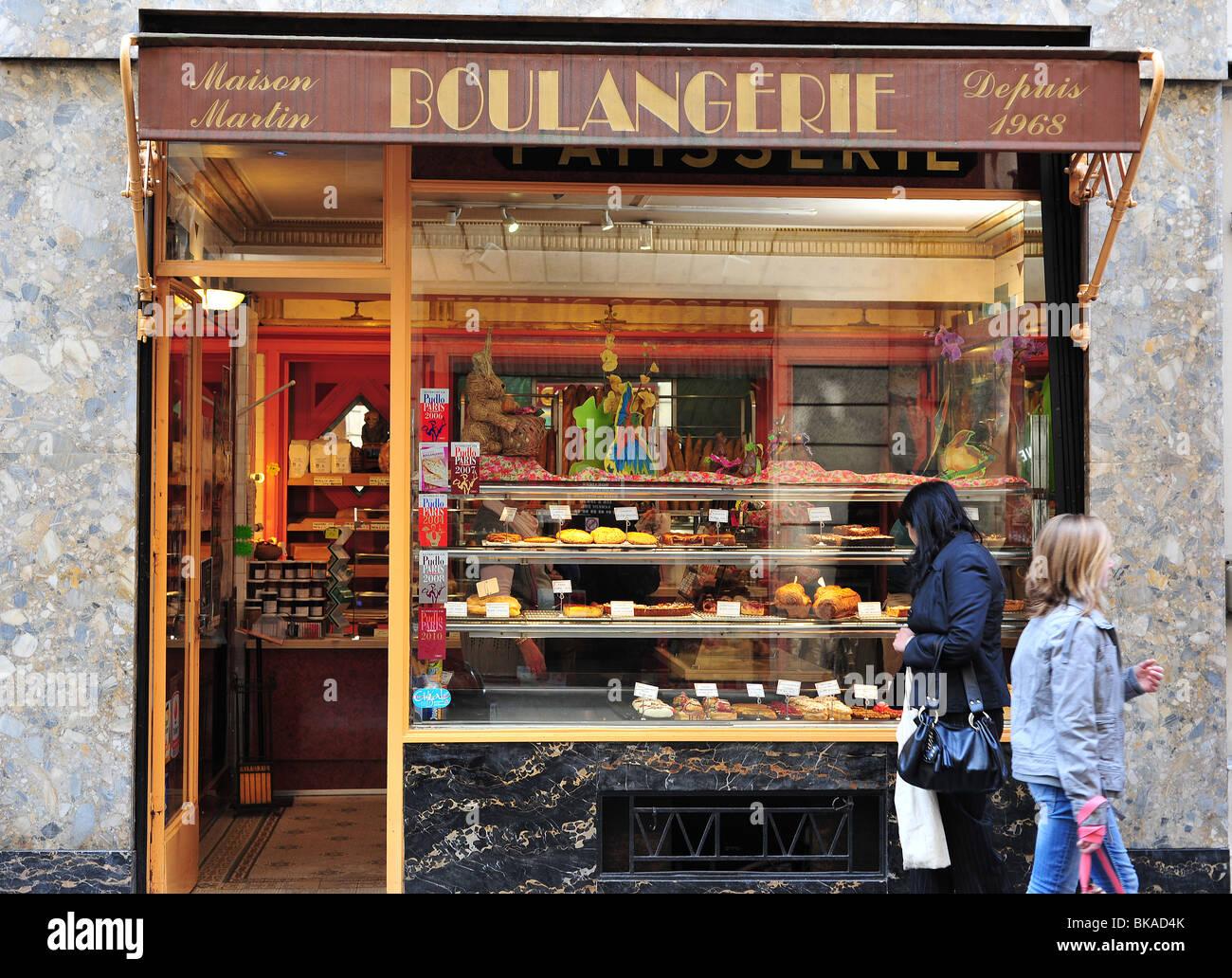 Paris Boulangerie in the Ile St Louis, 4th arrondissement - Stock Image
