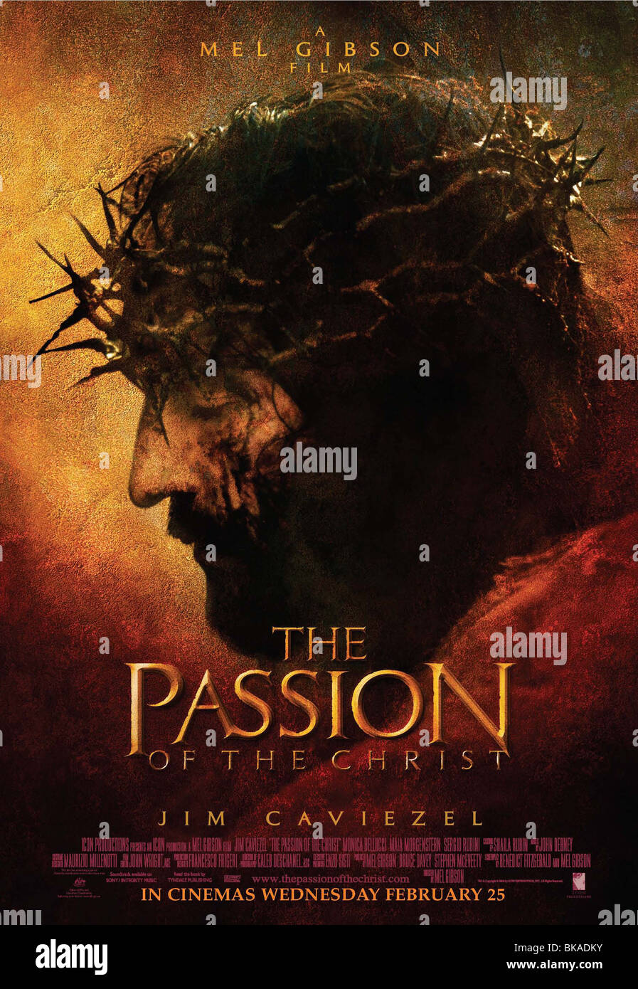 The Passion of the Christ  Year : 2004 - USA Director : Mel Gibson James Caviezel Movie poster (USA) - Stock Image