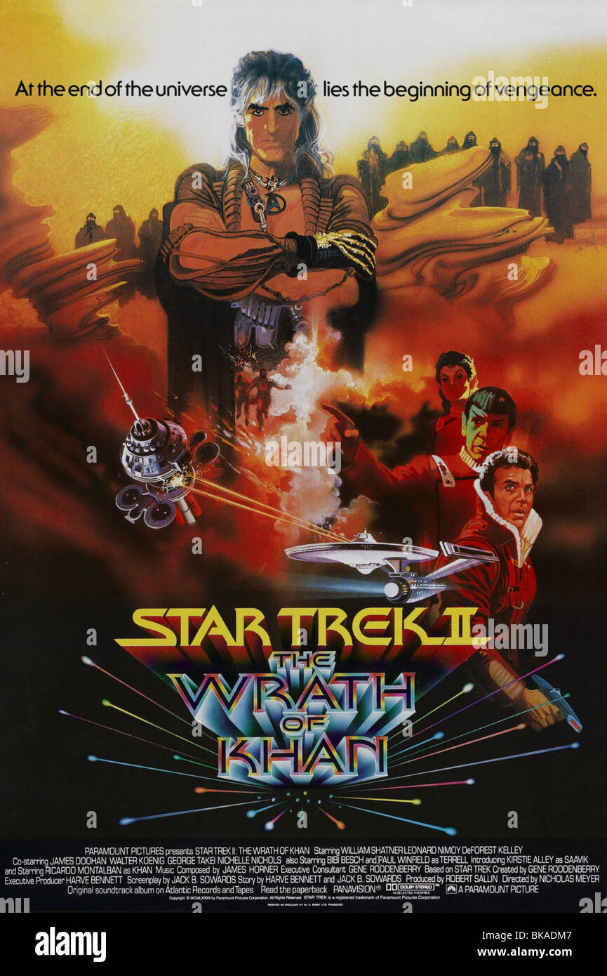 Star Trek: The Wrath of Khan  Year : 1982 - USA Director : Nicholas Meyer Movie poster (USA) - Stock Image
