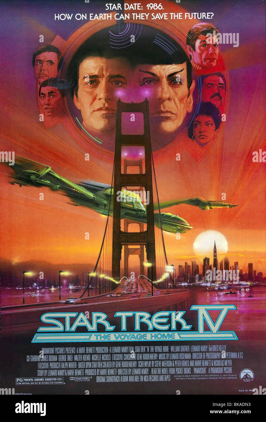 Star Trek IV: The Voyage Home  Year : 1986 - USA Director : Leonard Nimoy Movie poster (USA) - Stock Image