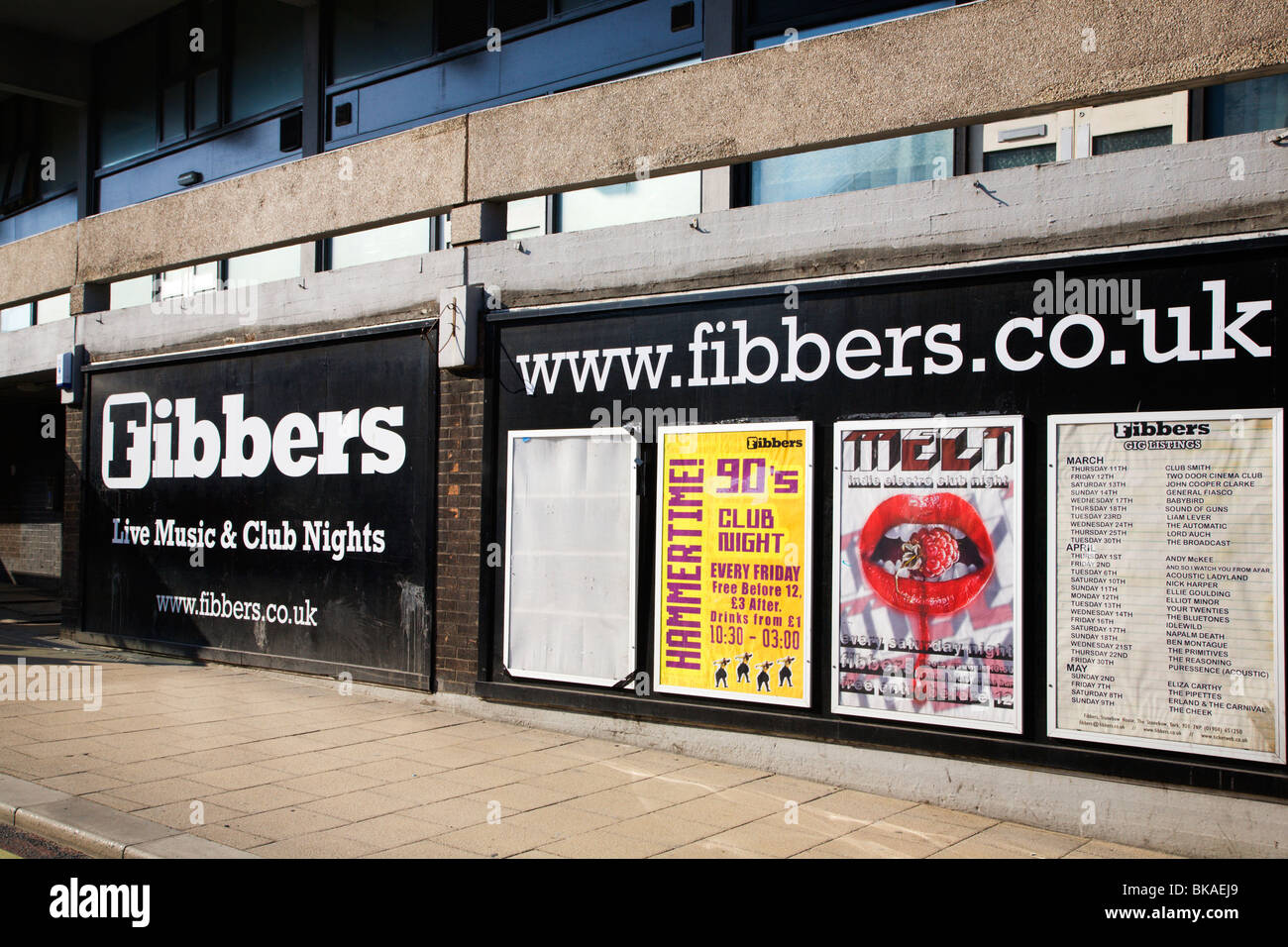 Fibbers Live Music Venue York Yorkshire UK - Stock Image