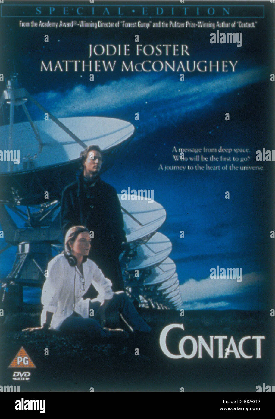 Contact 1997 Jodie Foster Matthew Mcconaughey Poster Cota 088 Stock Photo Alamy