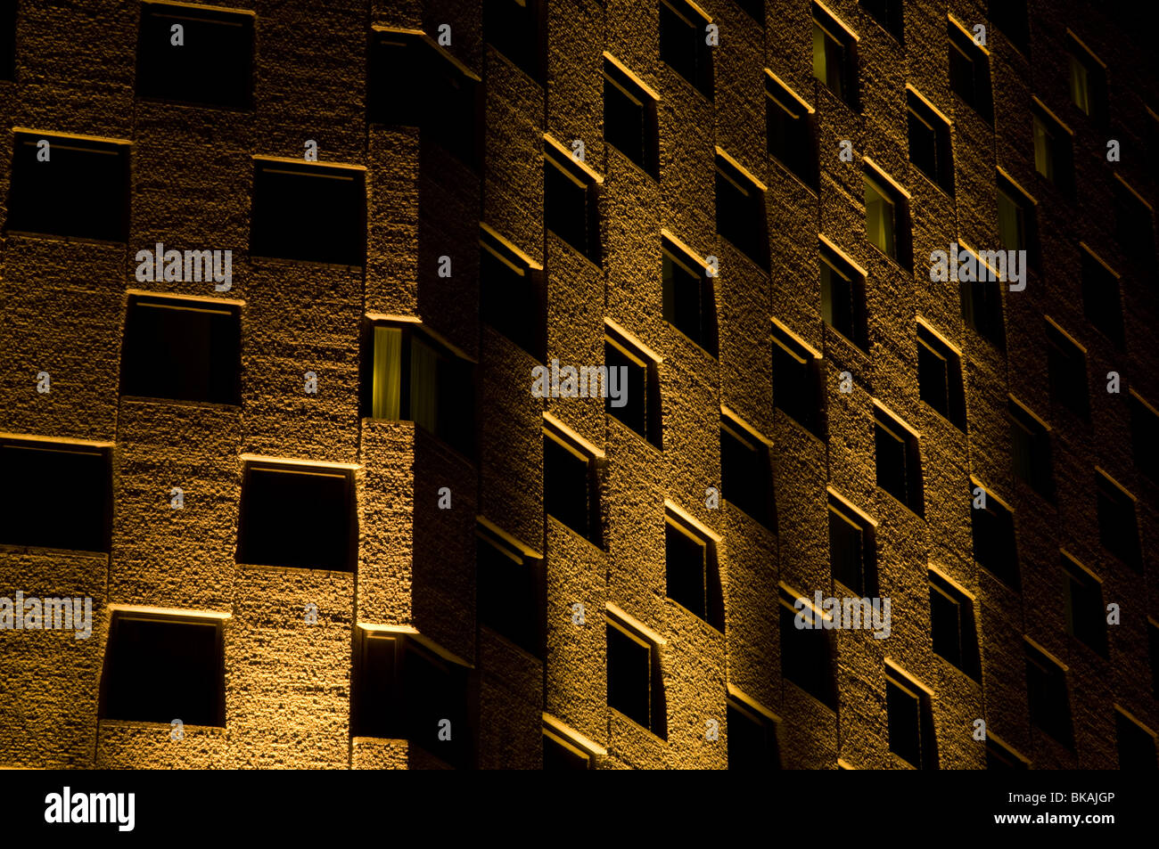 Close up view of hotel building in Montreal, Canada - Stock Image