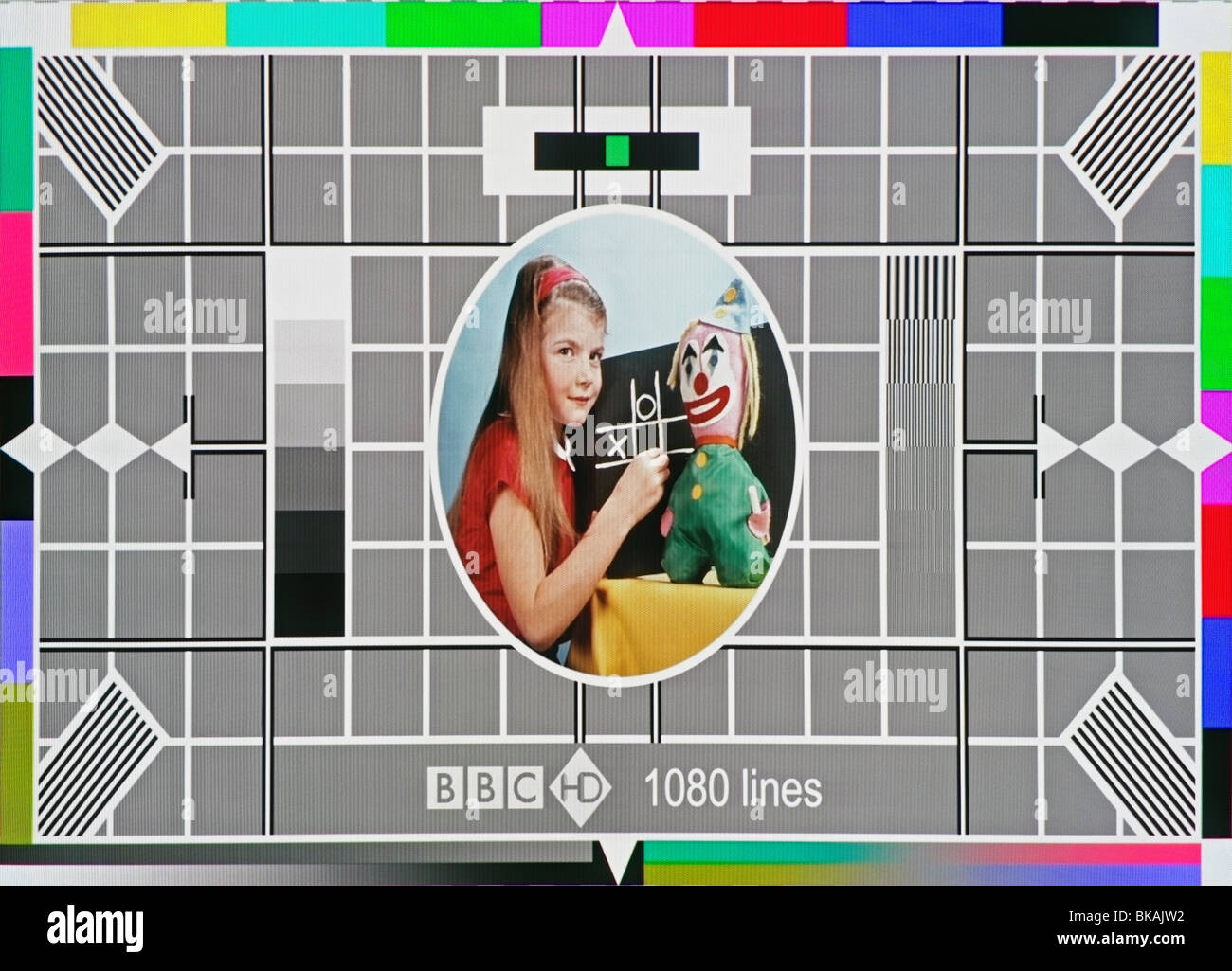 BBC Test Card - Stock Image