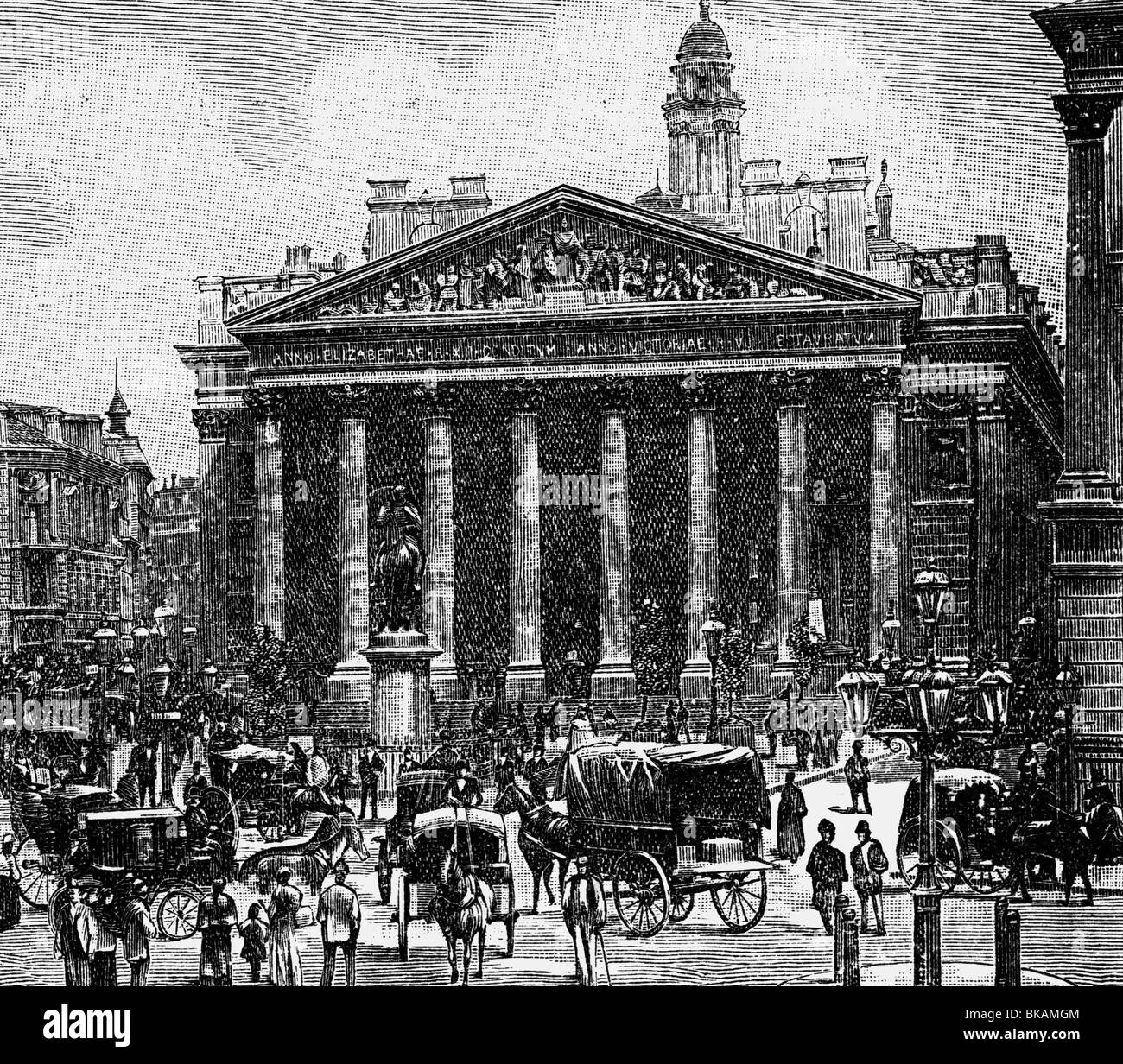 geography / travel, Great Britain, London, Royal Exchange, built 1842 - 1844, architect: Sir William Tite, exterior - Stock Image